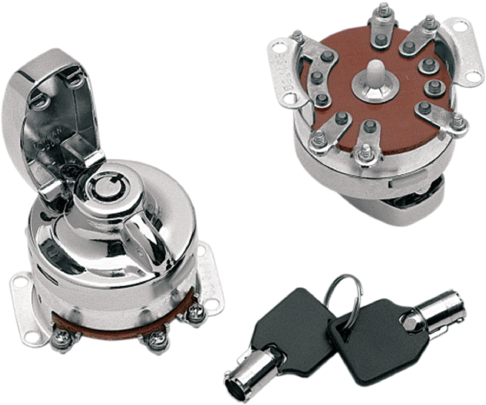 Drag Specialties Black Ignition Switch /& Keys 96-10 Harley Softail Dyna